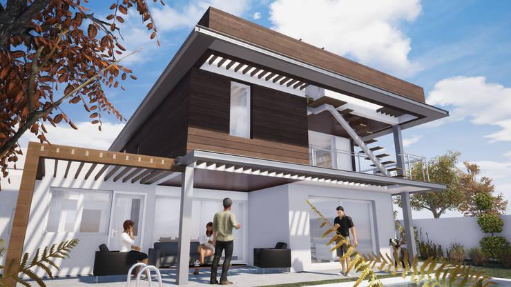 DISEÑO DE CASA EN VITACURA: Casas unifamiliares de estilo  por Dušan Marinković - Arquitectura - Santiago