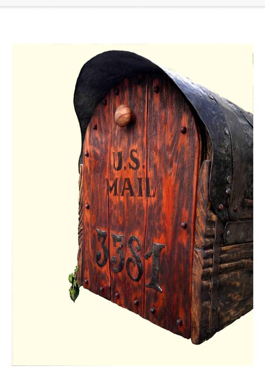 Rustic mailbox:  Household by Bezaleel workshop