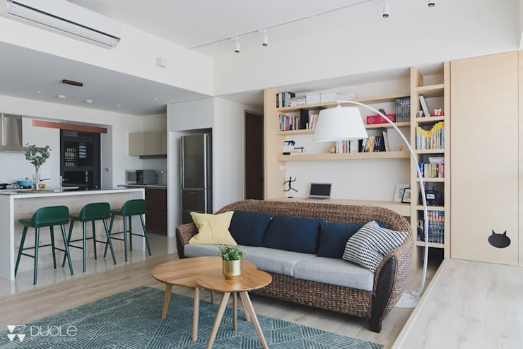 Project  |  T宅:  客廳 by DUOLE 掇樂設計