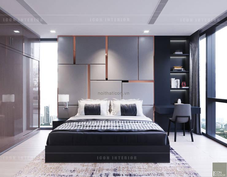 Căn hộ phong cách hiện đại: Không gian sống hoàn hảo cho gia đình bận rộn!:  Phòng ngủ by ICON INTERIOR