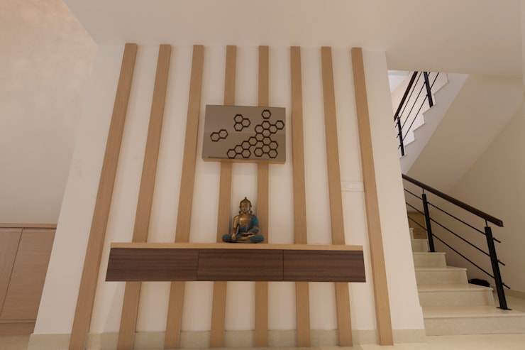 Residence No.1 at Panache, chennai:  Corridor & hallway by Synergy Architecture and Interiors,Modern