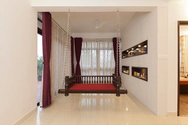 Residence No.1 at Panache, chennai:  Terrace by Synergy Architecture and Interiors,Classic