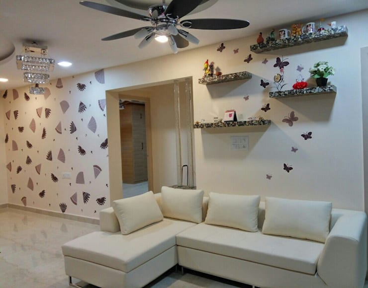 living Room Interior:   by Elcon Infrastructure