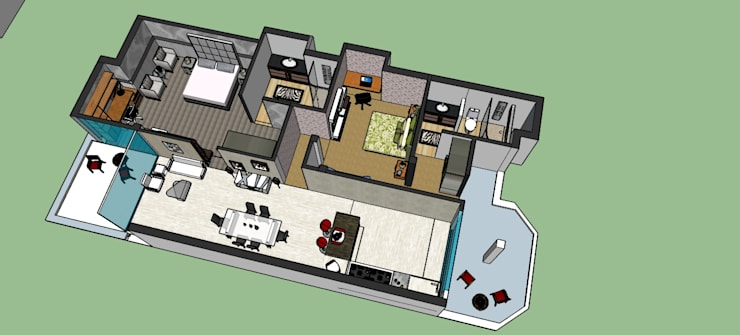 Residence of Dr. JHA:  Floors by EVEN SIGHTS ARCHITECTS,Modern MDF