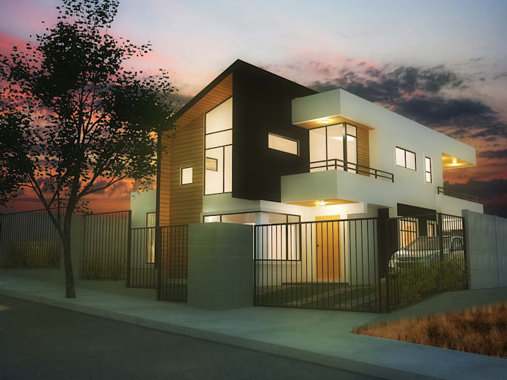 Casa Gral.Cruz: Casas unifamiliares de estilo  por Lau Arquitectos