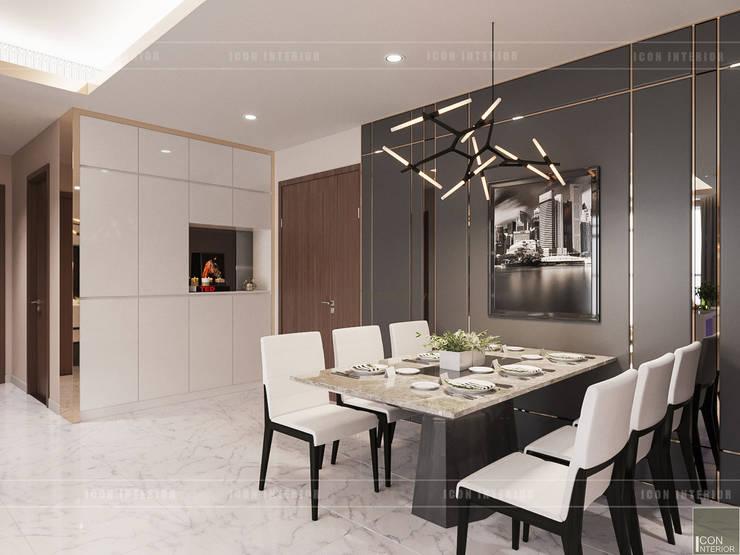 THIẾT KẾ CĂN HỘ VỚI NỘI THẤT PHONG CÁCH CHÂU ÂU – Sarica Condominium Sala:  Phòng ăn by ICON INTERIOR