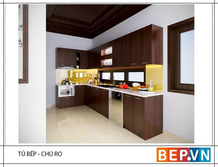 Tủ bếp Laminate chữ L gia đình chú Ro:  Kitchen by bep-vn-406-Xa-dan-02462627762