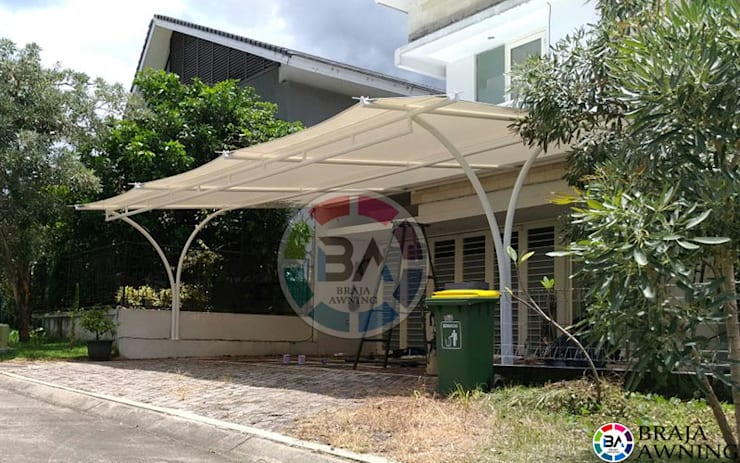 Tenda Membrane Jakarta (Teras Perumahan):  Balconies, verandas & terraces  by Braja Awning & Canopy