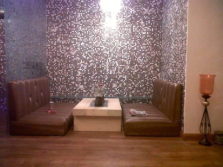 Manpada Thane:  Bars & clubs by aasha interiors,Modern