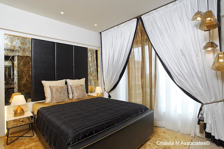 Dr.Bhavisha's Residence - Modern full interior renovation: modern Bedroom by Chawla N Associates