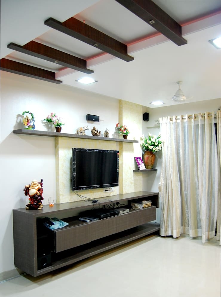 Project:  Living room by aasha interiors,Modern