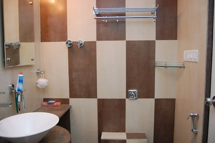 Project:  Bathroom by aasha interiors,Modern