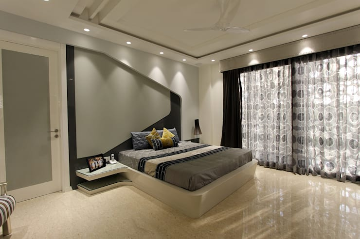 Árhat Villa: modern Bedroom by Conarch Architects