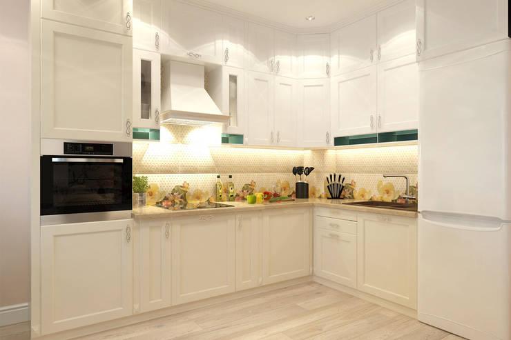 Кухня-гостиная: Кухни в . Автор – Гузалия Шамсутдинова | KUB STUDIO