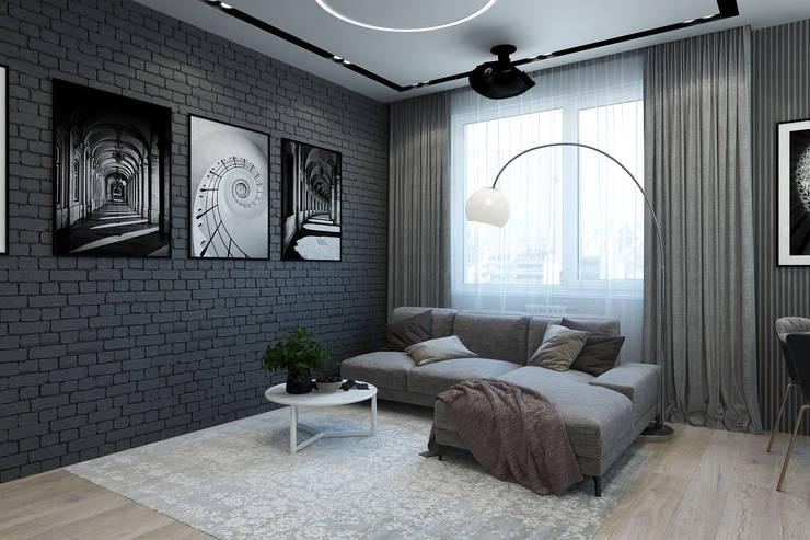 Livings de estilo minimalista de Гузалия Шамсутдинова | KUB STUDIO Minimalista