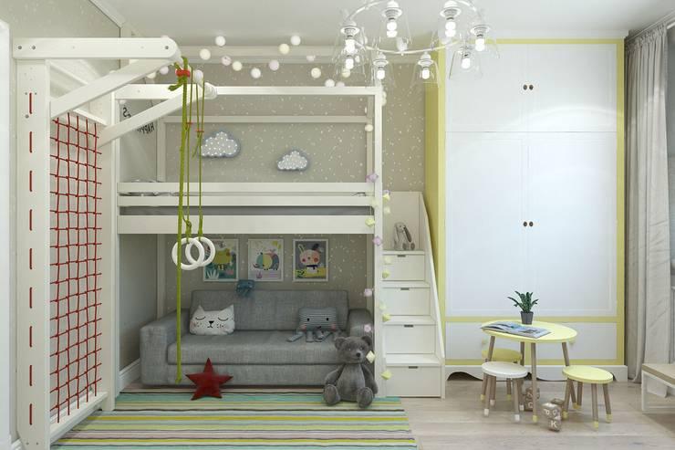 غرفة الاطفال تنفيذ Гузалия Шамсутдинова | KUB STUDIO