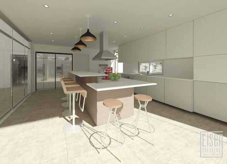 Cocina: Cocinas equipadas de estilo  por Eisen Arquitecto