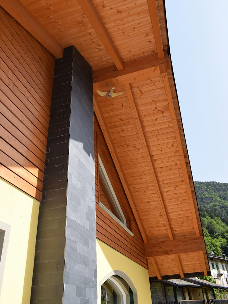 別墅 by Marlegno, 古典風 木頭 Wood effect