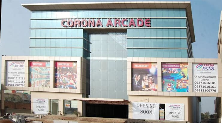 "CORONA ARCADE MALL: {:asian=>""asian"", :classic=>""classic"", :colonial=>""colonial"", :country=>""country"", :eclectic=>""eclectic"", :industrial=>""industrial"", :mediterranean=>""mediterranean"", :minimalist=>""minimalist"", :modern=>""modern"", :rustic=>""rustic"", :scandinavian=>""scandinavian"", :tropical=>""tropical""}  by Kavsh Architects & Interiors,"