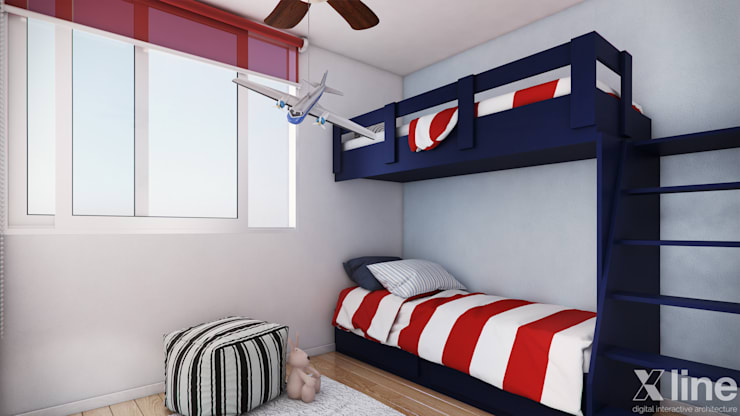 Altos de Puyai – Prohabit: Dormitorios infantiles de estilo  por Xline 3D,