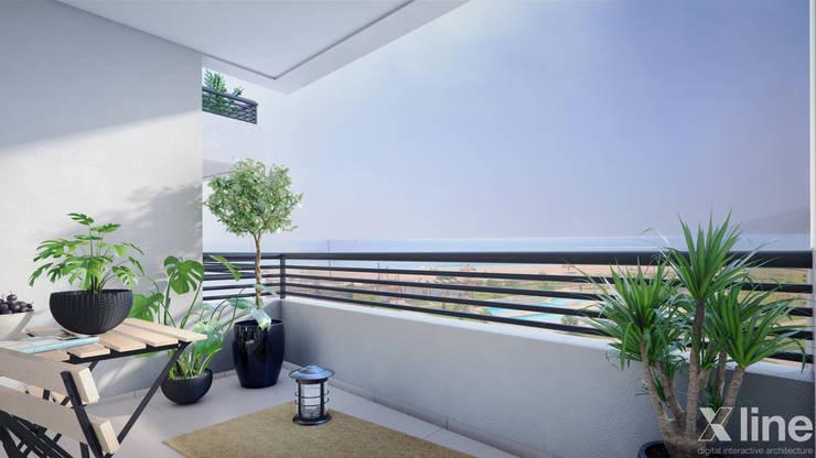 Altos de Puyai – Prohabit: Terrazas de estilo  por Xline 3D,