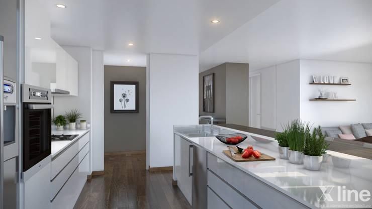 مطبخ تنفيذ Xline 3D