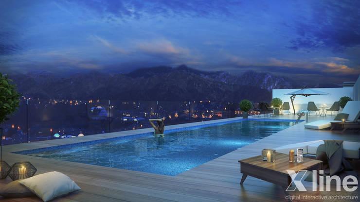 Hub 2 by Xline 3D:  Pool by Xline 3D Digital Architecture