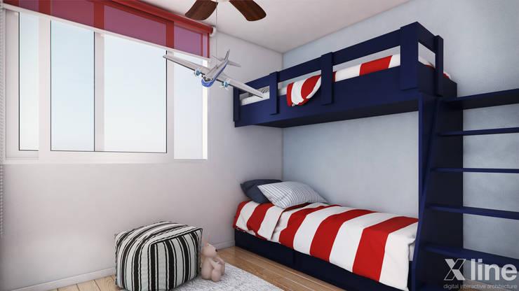 Altos de Puyai by Xline 3D:  Nursery/kid's room by Xline 3D Digital Architecture