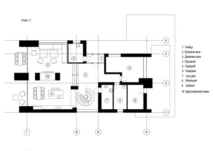 Частный жилой дом в Ростове-на-Дону: Полы в . Автор – Архитектурная студия Чадо