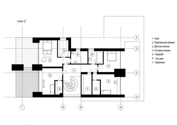 Частный жилой дом в Ростове-на-Дону: Лестницы в . Автор – Архитектурная студия Чадо