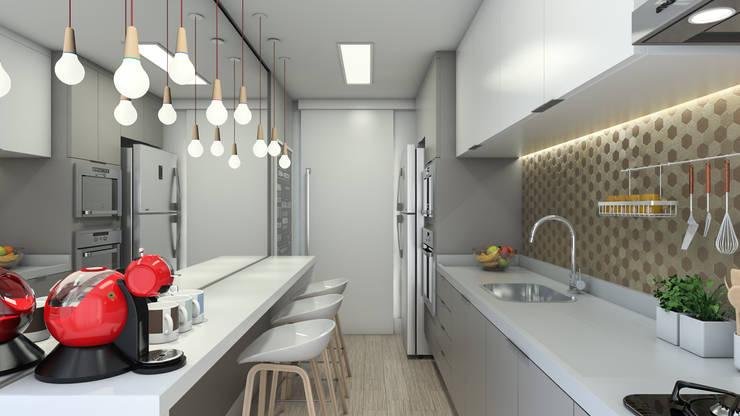 Apartamento - Guarujá/SP: Cozinhas modernas por Faconti Arquitetura e Construção