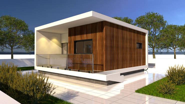 Casas prefabricadas de estilo  por Arbisland Arquitectura & Design