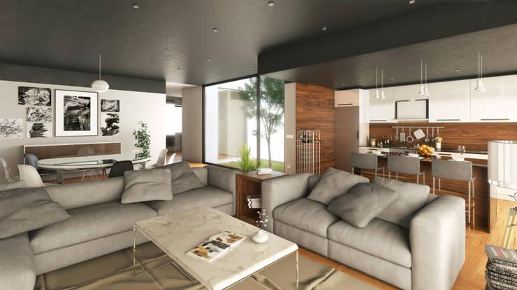 Salas de estilo moderno de Adelaide João Campos Lda Moderno