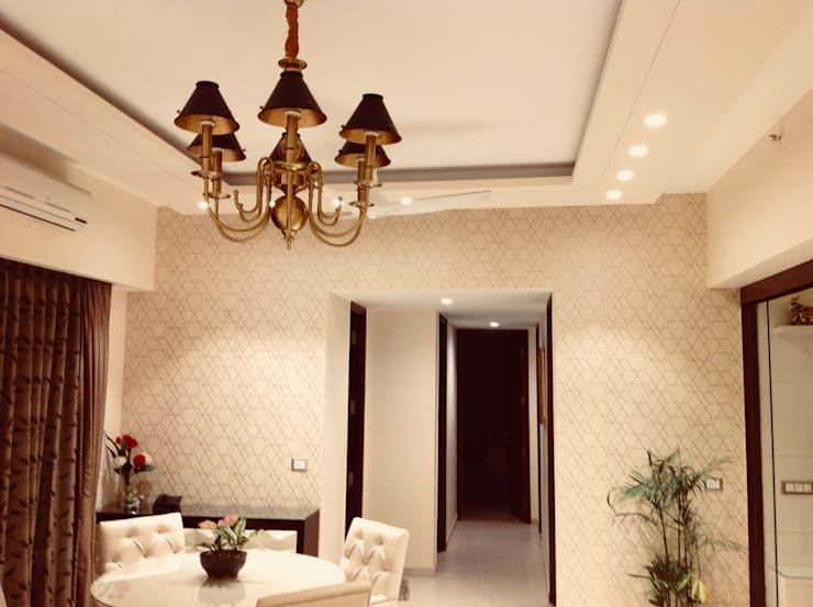 Residence @ Ireo Uptown Gurgaon:  Living room by INTROSPECS