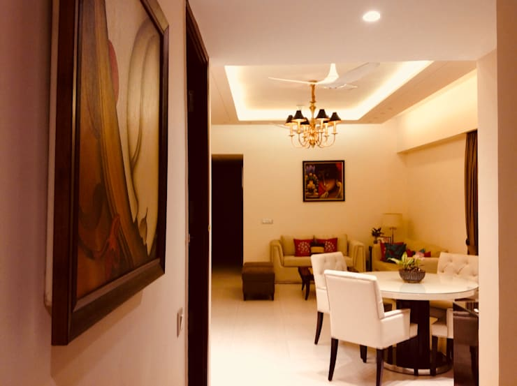 Residence @ Ireo Uptown Gurgaon:  Living room by INTROSPECS,Modern
