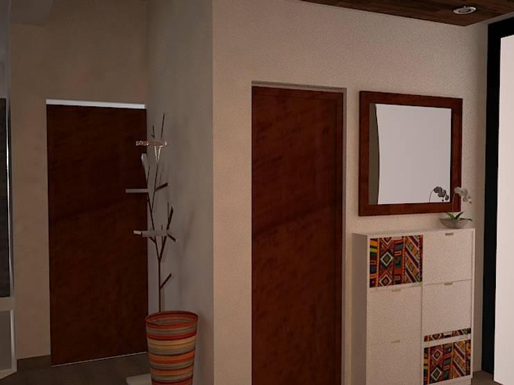 puertas de Hall: Salas / recibidores de estilo ecléctico por SindiyFiorella