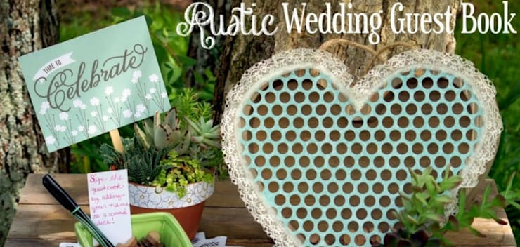 DIY Rustic Wedding Guestbook: classic  by Truworth Homes,Classic Plywood