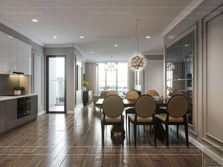 Thiết kế nội thất Tân Cổ Điển cao cấp Luxury 6 Vinhomes Golden River:  Phòng ăn by ICON INTERIOR