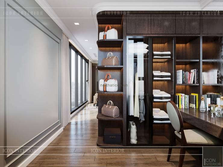 Thiết kế nội thất Tân Cổ Điển cao cấp Luxury 6 Vinhomes Golden River:  Phòng thay đồ by ICON INTERIOR