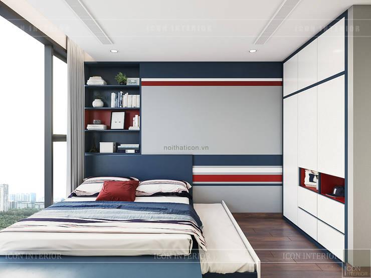Thiết kế nội thất Tân Cổ Điển cao cấp Luxury 6 Vinhomes Golden River:  Phòng trẻ em by ICON INTERIOR