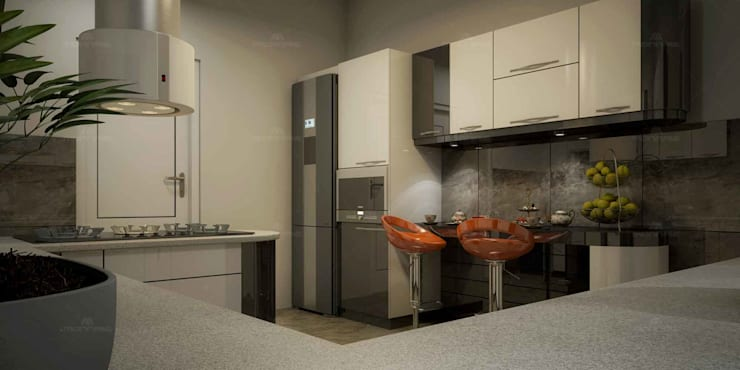 Modular Kitchen Designs in Kerala:  Built-in kitchens by Monnaie Interiors Pvt Ltd,Asian