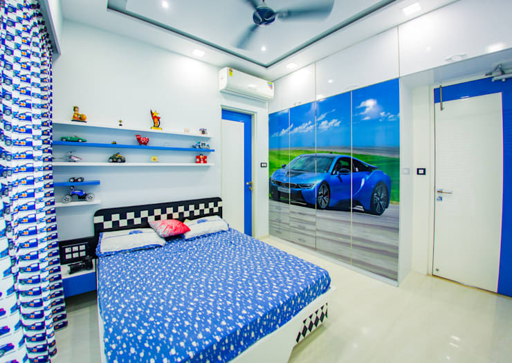 Rodas Enclave, Thane:  Bedroom by aasha interiors,Modern