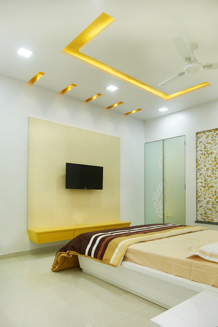 Majiwada, Thane:  Bedroom by aasha interiors,Modern