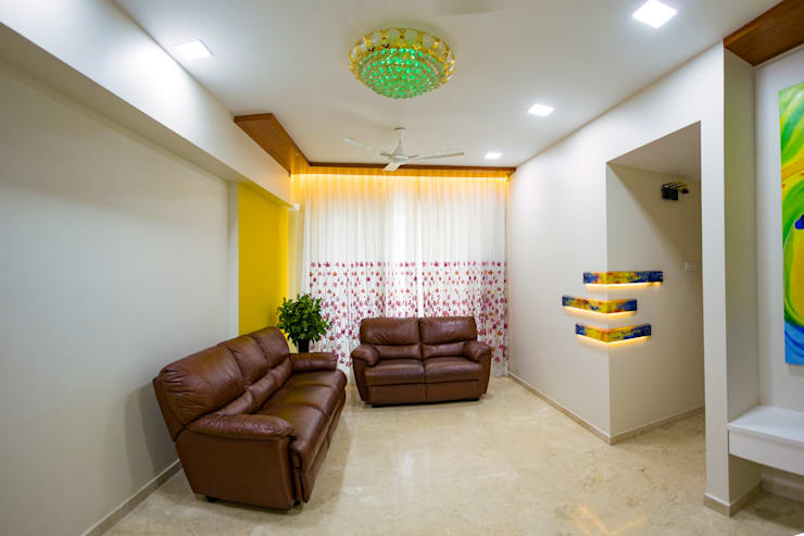 Modern Living Room by aasha interiors Modern