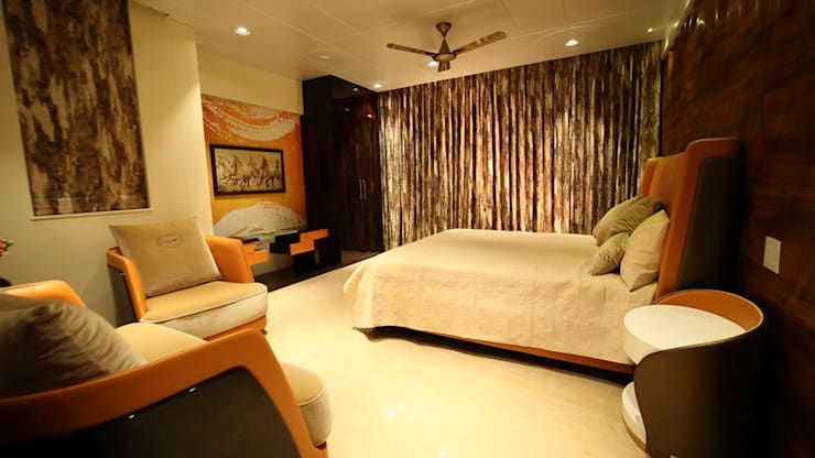 Kamar Tidur oleh aasha interiors, Modern