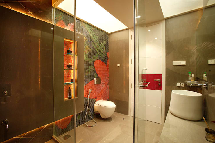 Mr Anil nahata's bungalow:  Bathroom by Innerspace,Modern