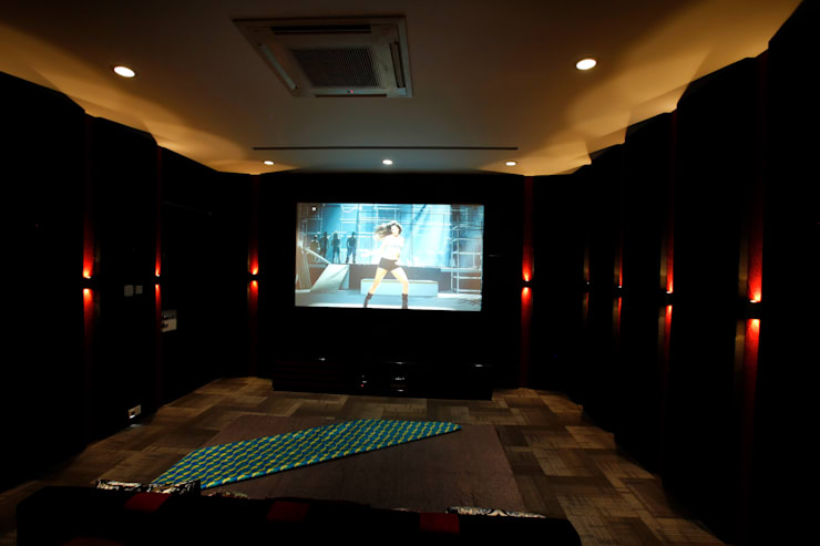 Mr Anil nahata's bungalow:  Media room by Innerspace,Modern