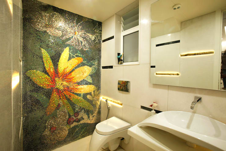 Mr Anil nahata's bungalow:  Bathroom by Innerspace