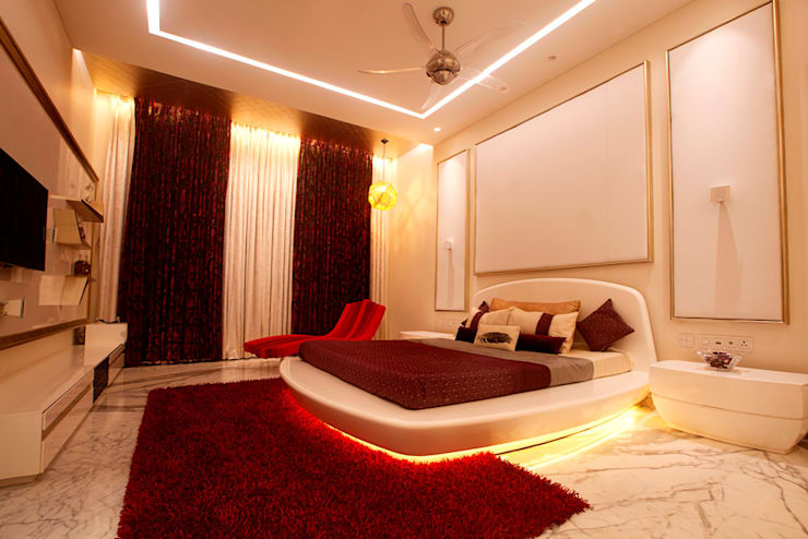 Indra hira bungalow: modern Bedroom by Innerspace