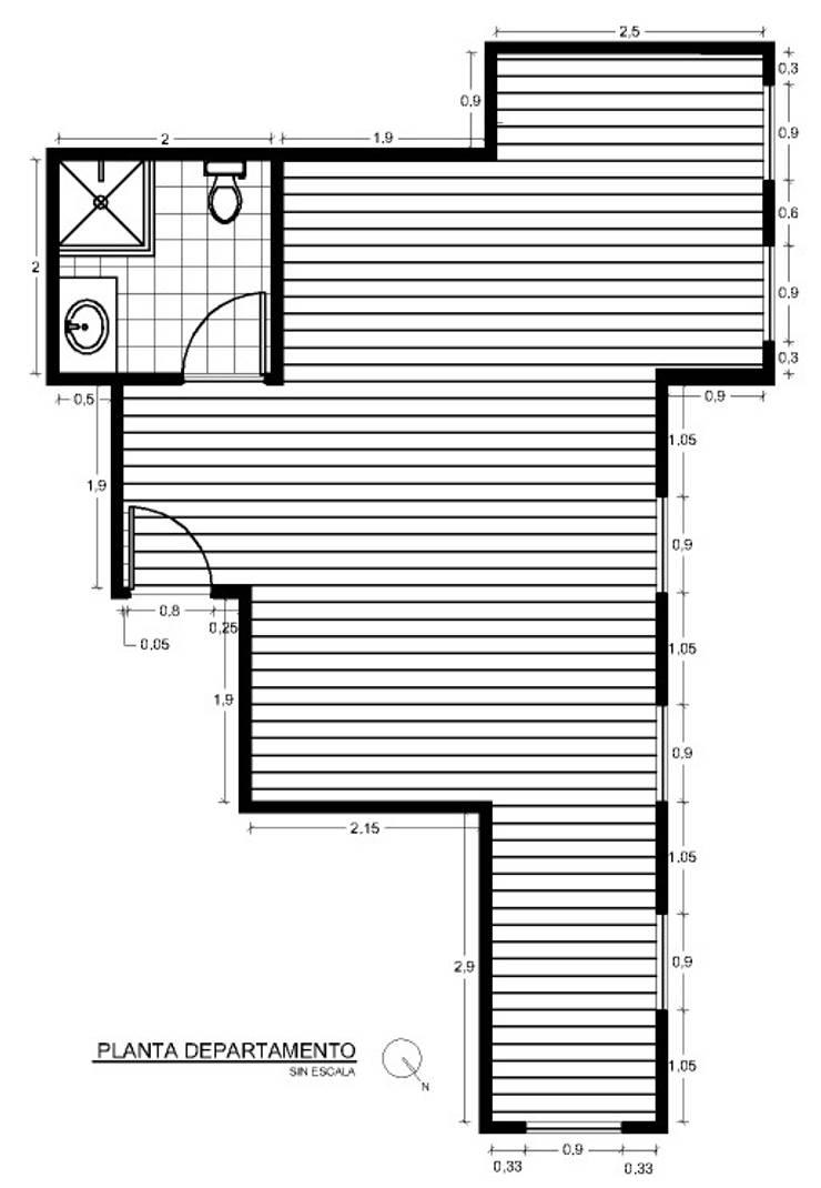 Diseño Interiores Departamento – Toronto Canada:  de estilo  por Super A Studio